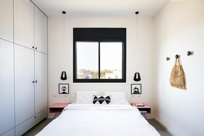 חדר שינה בסגנון נקי