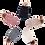 Thumbnail: כובע צמות שחור פונפון
