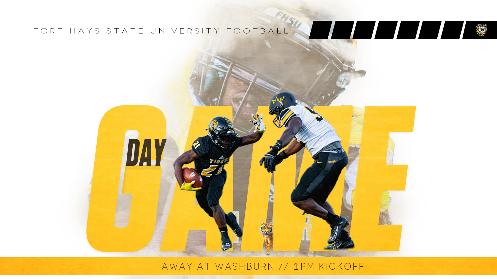 Football game day graphic for social