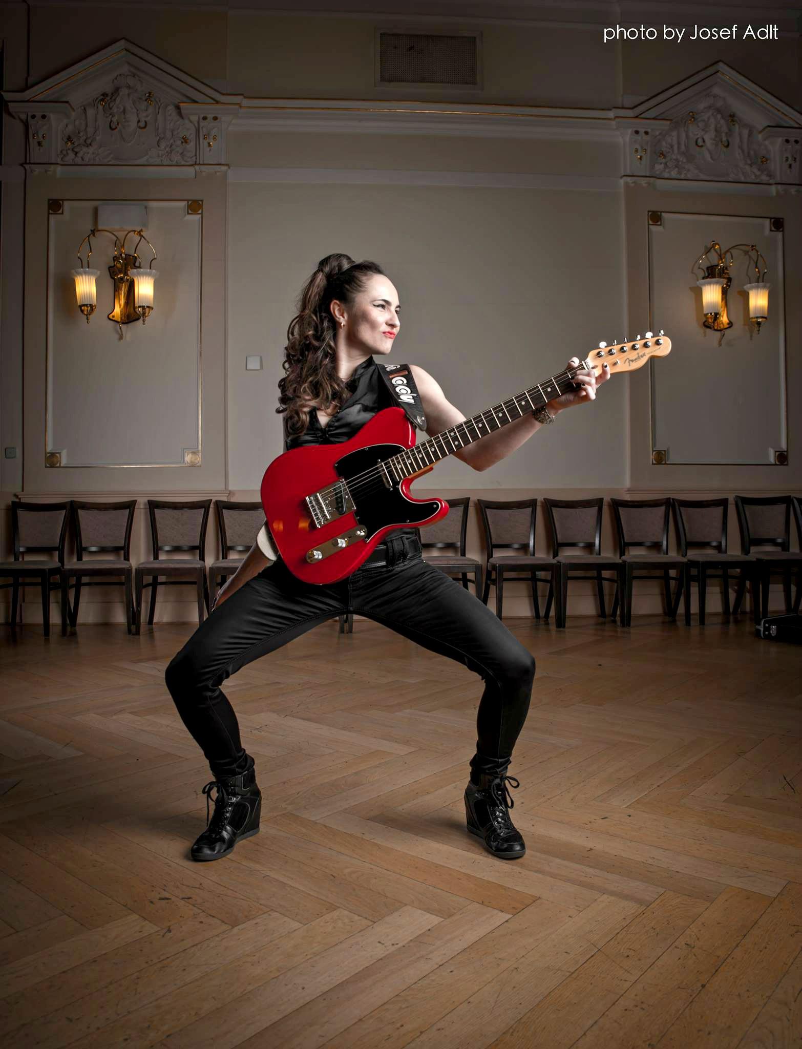 Tereza s Fender Telecaster