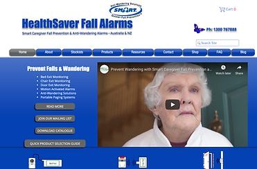 Healthsaver fall alarms web site