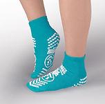 Double imprint slip resistant grip socks