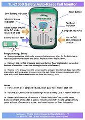 Auto Reset Fall Alarm Monitor