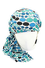 Blue scarf to cover HeadSaver