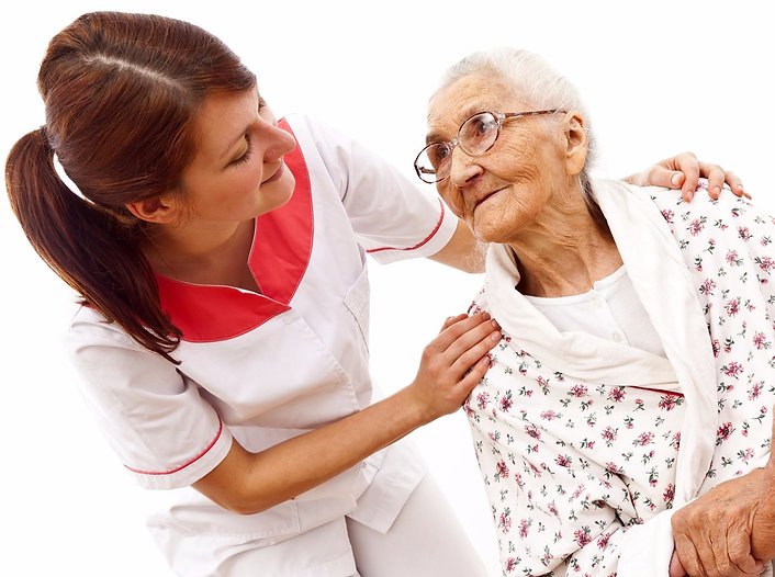 Lady with pressure ulcers