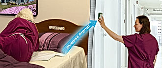 Wireless Fall Detection - eliminates trip hazards create by cords