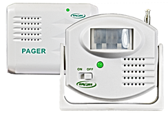 The Smart Caregiver TL-5102MP is a stand-alone motion paging system that allows you to eliminate in-room alarm noise. The Motion Sensor is placed in a doorway or by the bedside and when motion is detected, a silent wireless signal is sent to the caregiver pager up to 100m away.