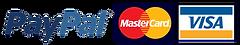 Paypal Mastercard and visa logo