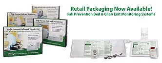Fall Alarm Kits in retail boxes