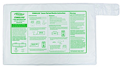 Cordless bed exit pad