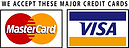 We accept mastercard and visa nd paypal