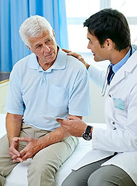 incontinence specialists discussing options with patient