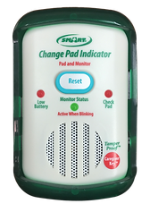 The TL-2100CP automatically tracks pad life so caregivers no longer have to write dates on pads. The Fall Monitor counts down the days the pad has been in use and the Check Pad Light will illuminate 10 days prior to pad expiration. A short beep will also alert caregivers that it's time to change pad. When used with Timed Bed & Chair pressure pads, this monitor will not only save time and staff resources, but also ensure your Compliance!