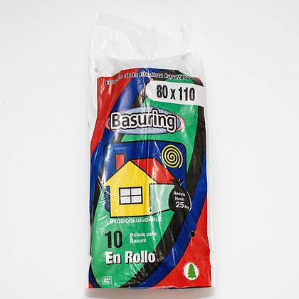 Bolsa Basura 80 x 110 cm, 10 unidades