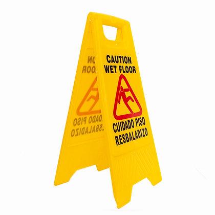 Señalética piso mojado