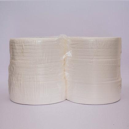 Papel Higiénico Jumbo, 2 hoja, blanco, 250 metros. 4 rollos.