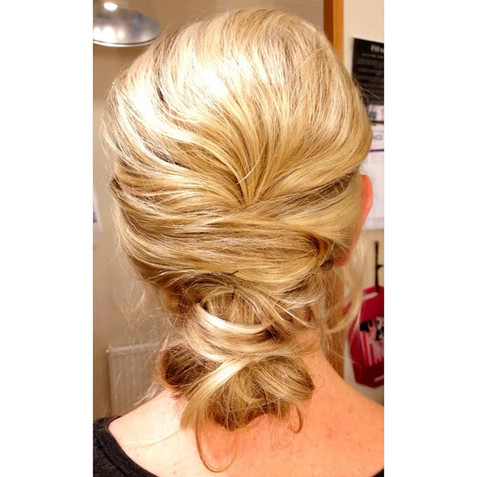 Loose texture updo