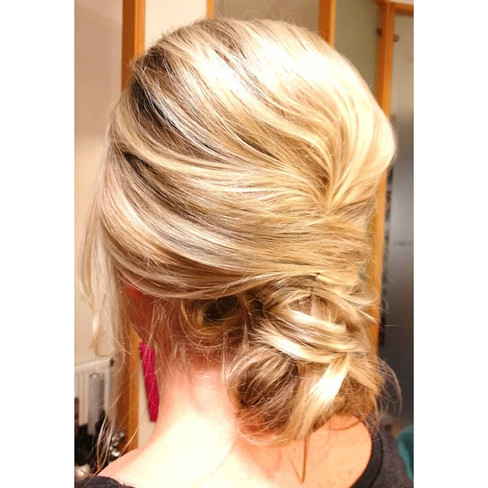 Loose textured updo