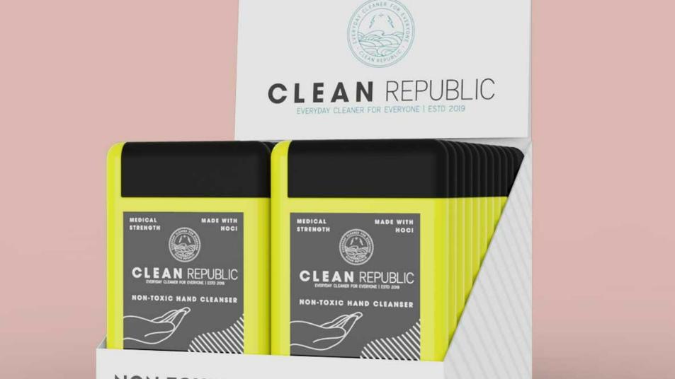 13 Case (24 packs per box) MEDICAL STRENGTH HAND CLEANSER - 100PPM (0.6OZ)