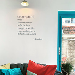 Derek Otte's poem on the wall