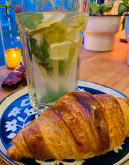 Infusion and croissant