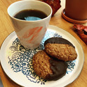 Batch brew with homemade cookies