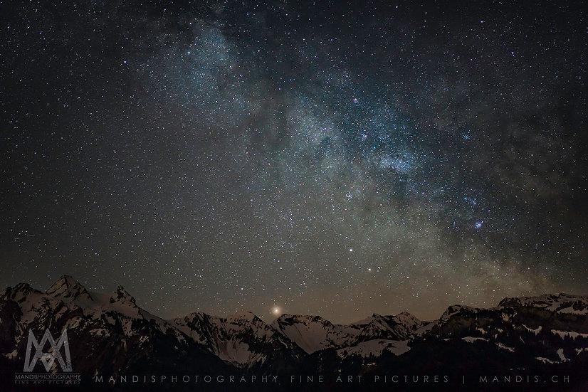 25 | Mountain Night Sky | Kanton SZ