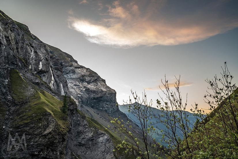 119 | Sunset behind the Rocks |  Schweiz