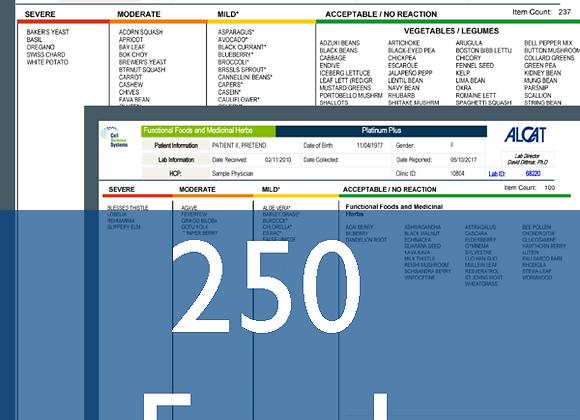 Food Sensitivity Testing (250 Foods) & Digestive Health Consultation