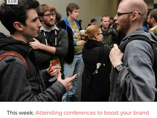 How attending conferences can help boost your personal brand