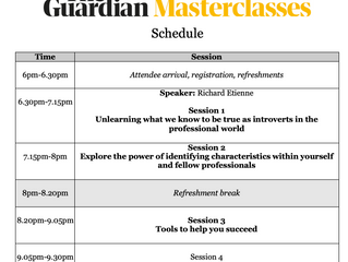 Tips from my Guardian Masterclass