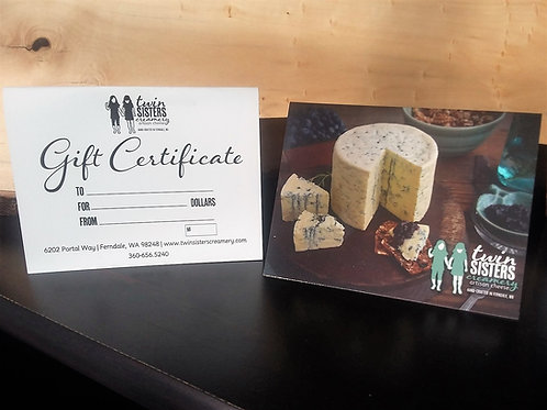 Twin Sisters Gift Certificate