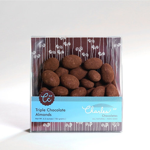 Charles Triple Chocolate Almonds - 6.5 oz