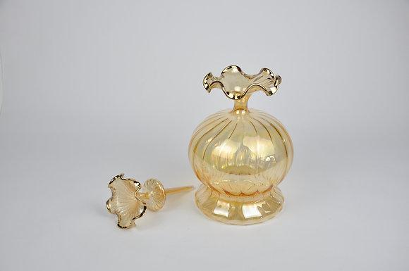 Gold Amber Lale Şişe 30x18