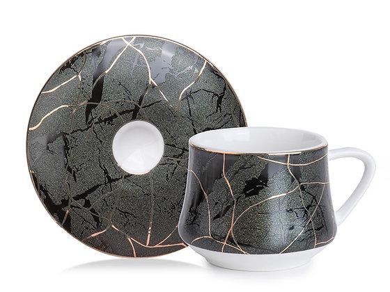 Green Marble 6'lı Kahve Fincan Takımı