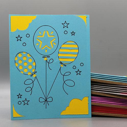Birthday Balloons -Card