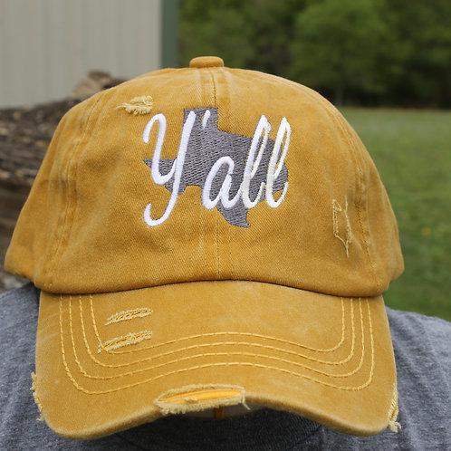 Y'all -Ponytail Hat