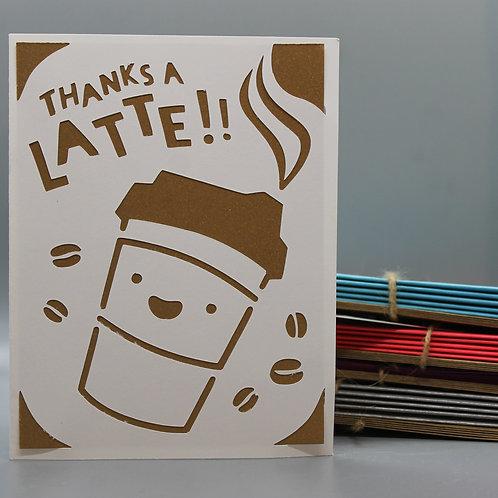 Thanks A Latte -Card