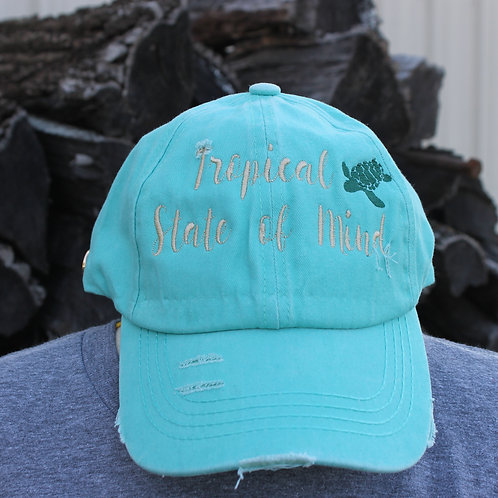 Tropical State Of Mind -Ponytail Hat