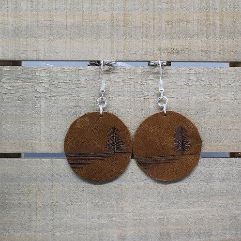 """Genuine Leather Earrings """"Serenity"""""""
