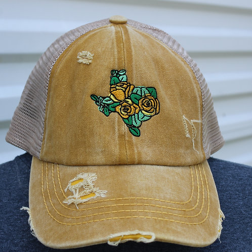 The Yellow Rose Of Texas -Ponytail Hat