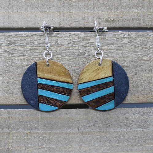 Wood Burned Earrings -Eva