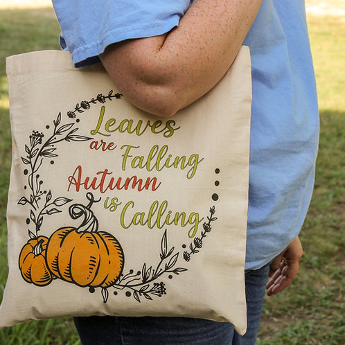Leaves Are Falling -Tote Bag