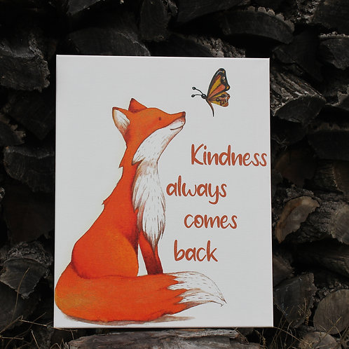 Kindness Always Comes Back  -Printed Canvas Art