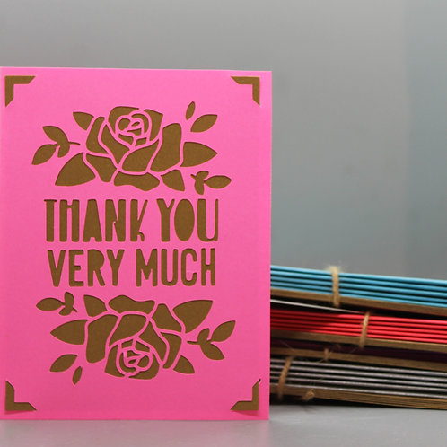 Thank You Very Much -Card