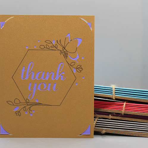 BUTTERFLY THANK YOU -CARDS