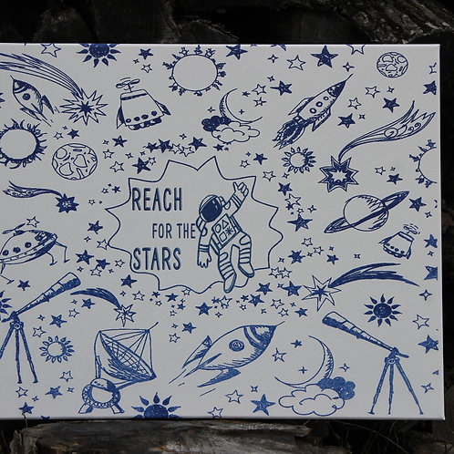Reach For The Stars  -Printed Canvas Art