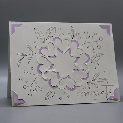 Flower Congrats -Card