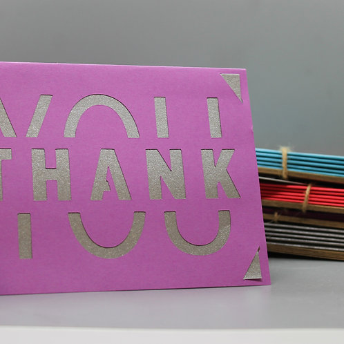 PURPLE THANK YOU -CARDS