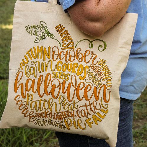 Fall Pumpkin -Tote Bag